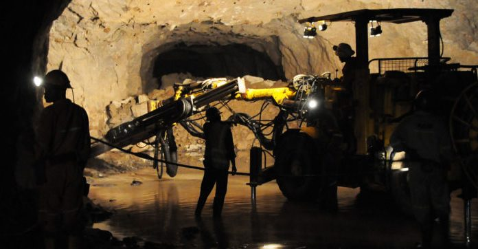 A picture of the wet mine underground operations