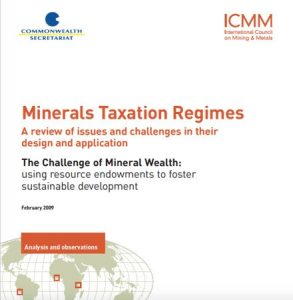 Minerals Taxation Regimes Analysis and Observations