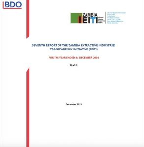 Seventh Report of the Zambian Extractive Industries Transparency Initiative