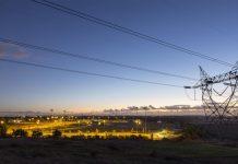 powerlines at night