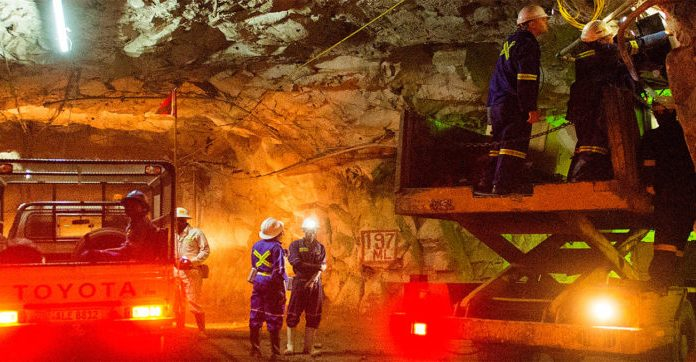 Operation at Chibuluma Mine underground