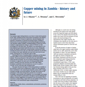 copper mining in zambia cover image