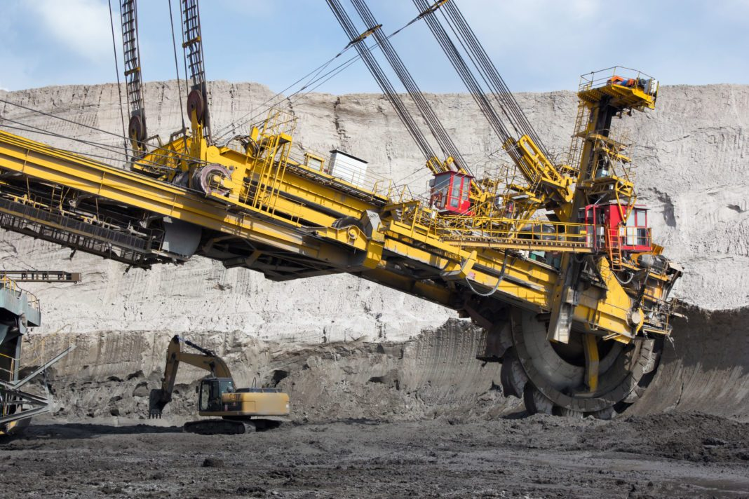 coal mining in open-cast mine
