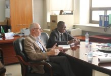 Mooya Lumamba & Ron Smit in discussions about copper mineral production
