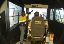Simulator training in action
