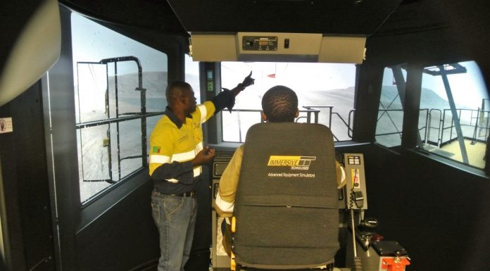 Simulator training in action